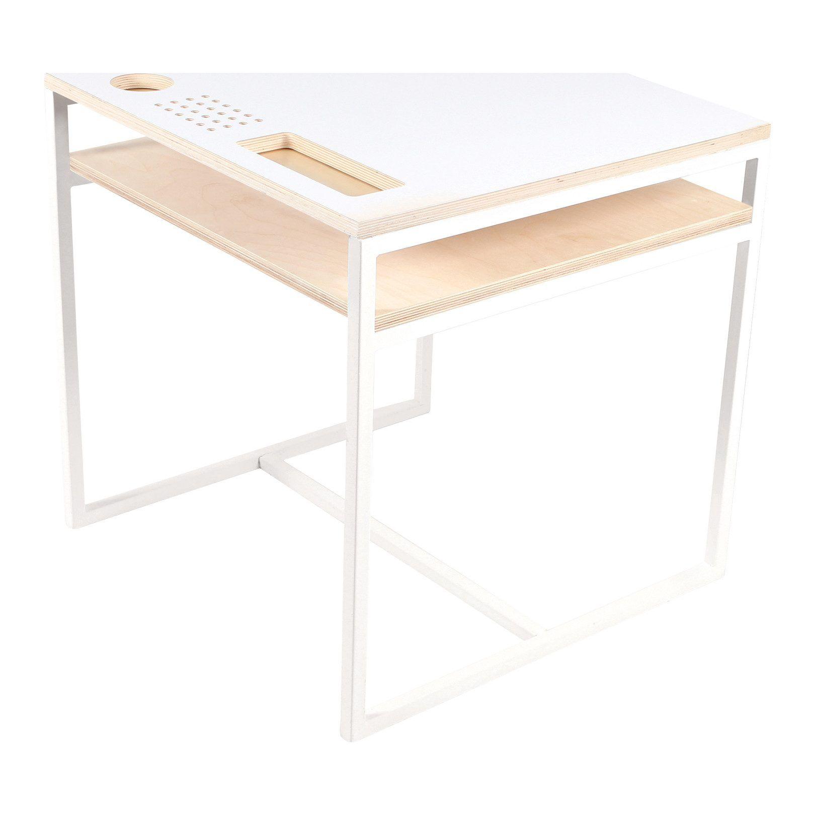 Loft bed with desk south africa  Gautier Studio Nouga Desk White  Pinterest  Desks Baltic birch
