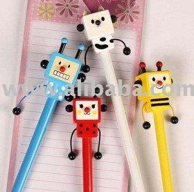robot pencil toppers