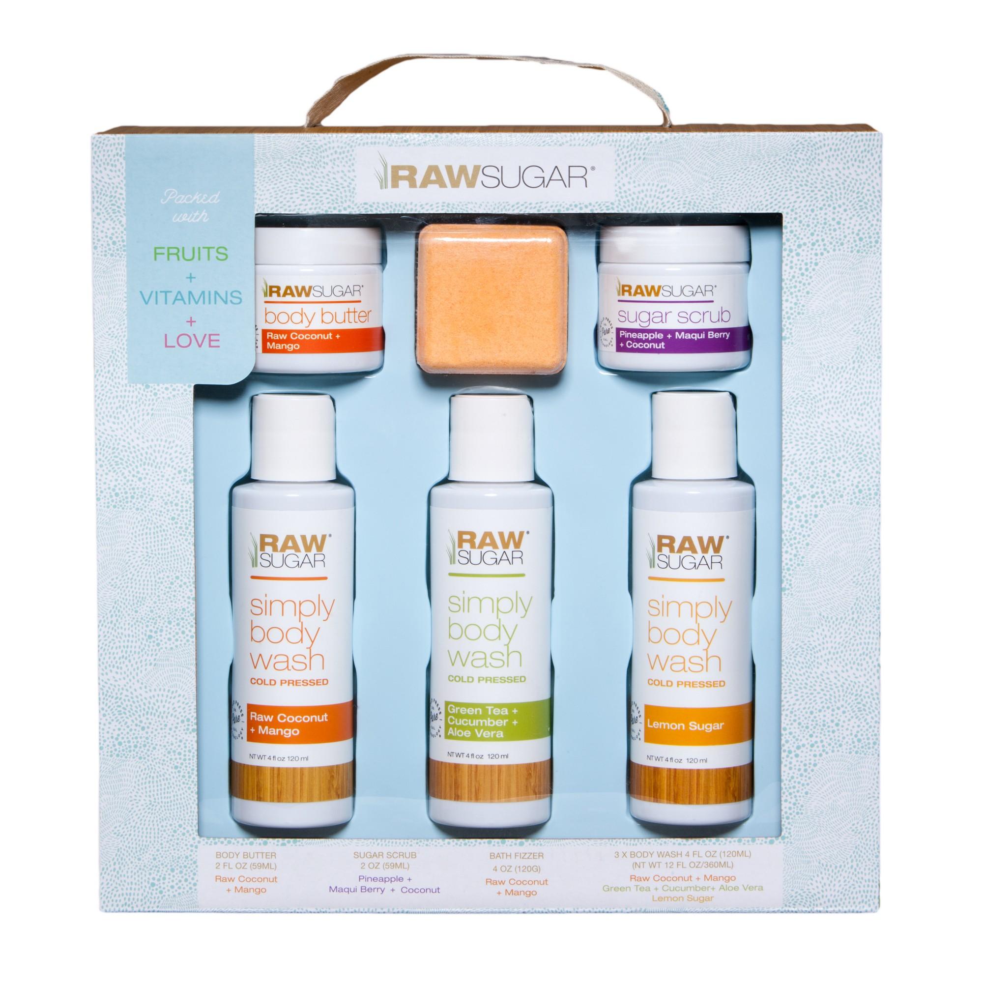 Raw Sugar Body Bath Gift Set Products Sugar Spa Day At Home Soap