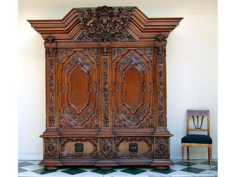 sehr schöne Historismus Tisch mit Figuren Danziger Barock - barock mobel prachtvoll