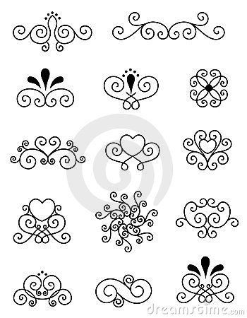 Decorative design elements stock vector. Illustration of design - 24195050