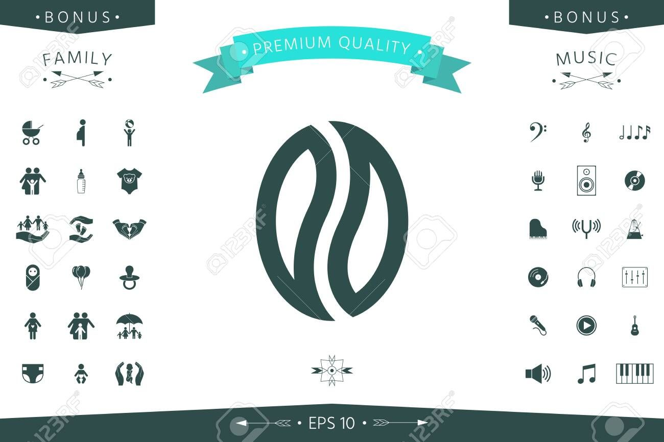 Coffee seed  logo Element for your design