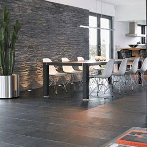 Schiefer Wandverkleidung  wandgestaltung wohnzimmer in 2019