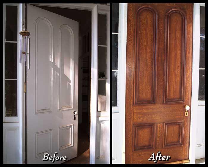 How To Paint Your Metal Front Door To Look Like Wood. | Build It Yourself!  | Pinterest | Front Doors, Faux Wood Paint And Doors