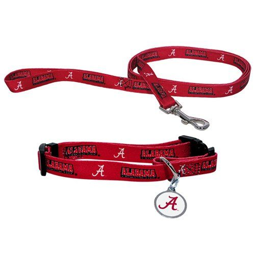 Alabama Crimson Tide NCAA Dog Collar & Leash by one of a kind dog necklaces