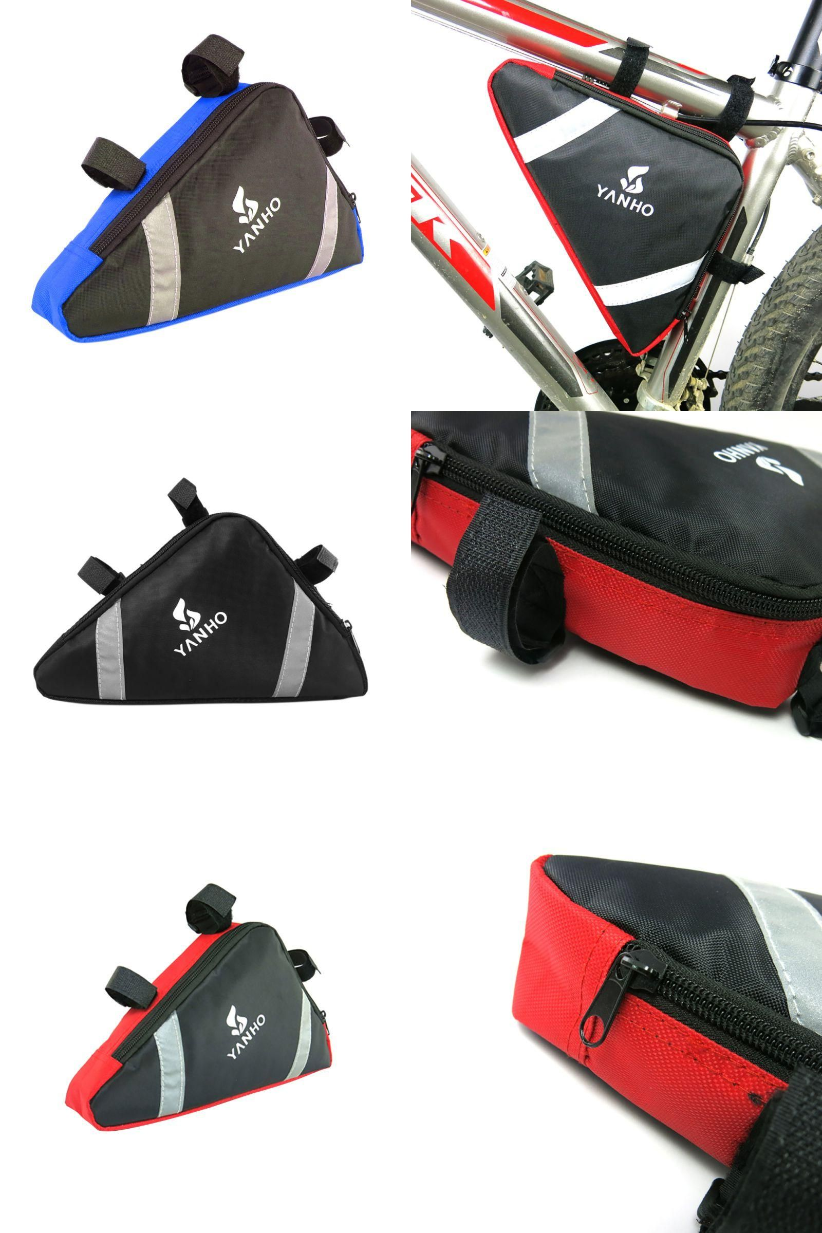 Cycling Bike Frame Bag Pouch Front Tube Bicycle Triangle Bags Release Outdoor