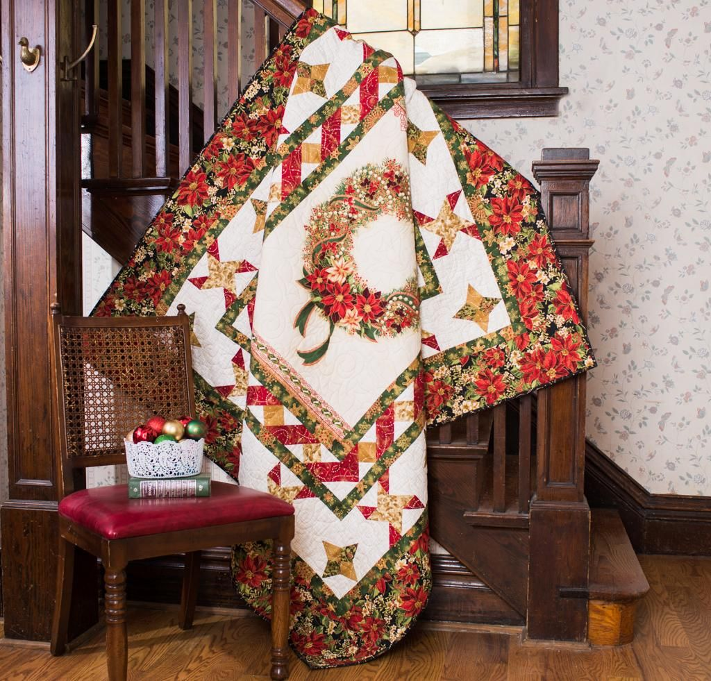 """Celebrate the season with the Vintage Memories Quilt Kit! You'll receive a pattern and classic Robert Kaufman fabric to sew this beautiful, 60""""x 72"""" design."""