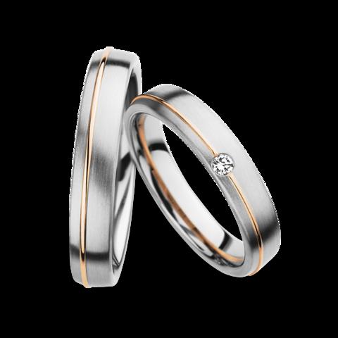 Platinum And Gold Matching Wedding Bands Christian Bauer