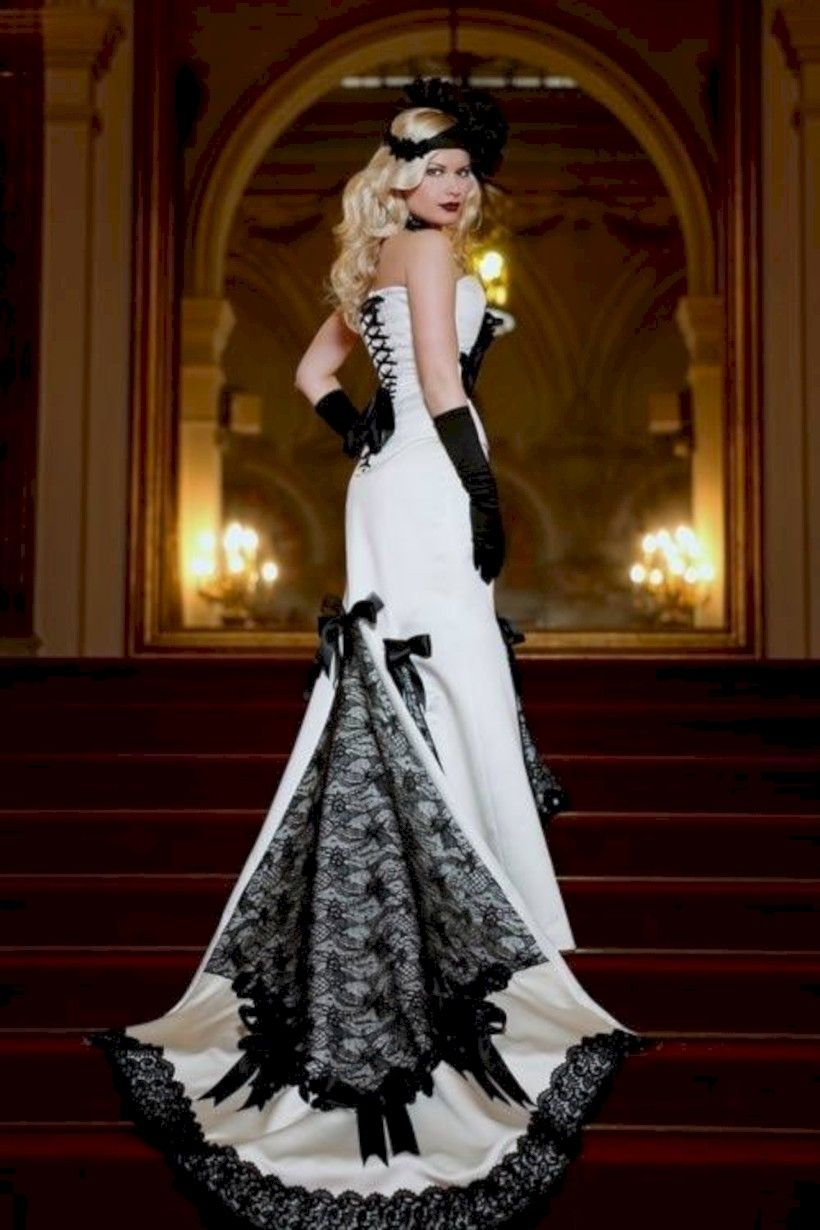 gorgeous halloween wedding dress with vintage style halloween