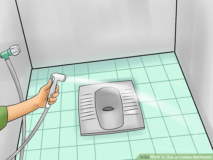 Image Titled Use An Indian Bathroom Step 4 Indian Bathroom Bathroom Floor Plans Bathroom Flooring