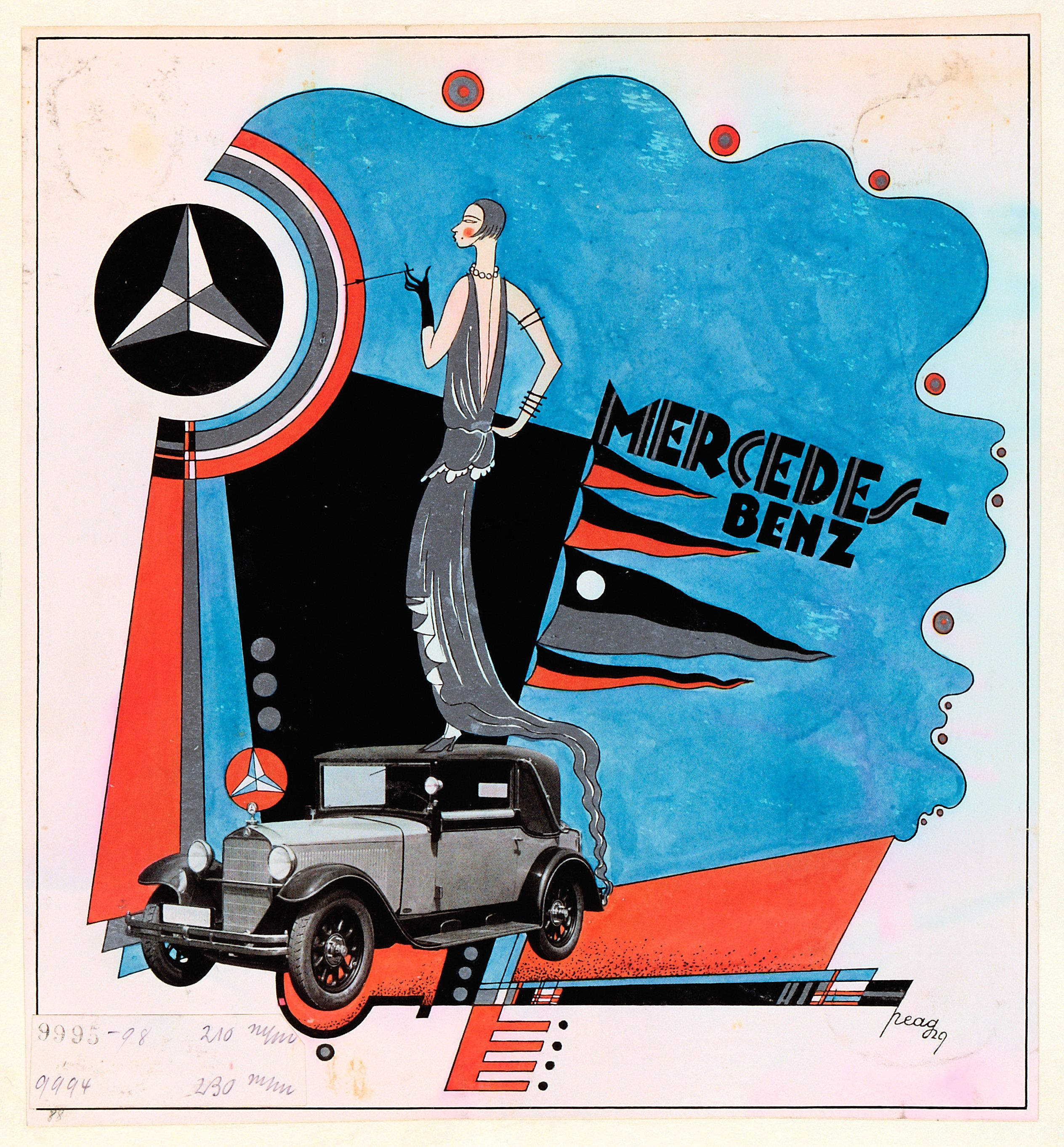 Mercedes Benz Vintage Ad This Draft Advertisement From 1929 Peag Takes Up Elements Of Constructivism And Anuncios De Coches Coches Clasicos Anuncios Vintage