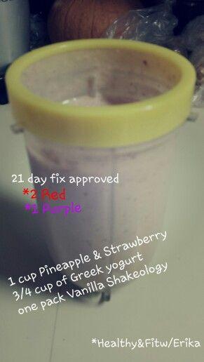 21 day fix Shakeology