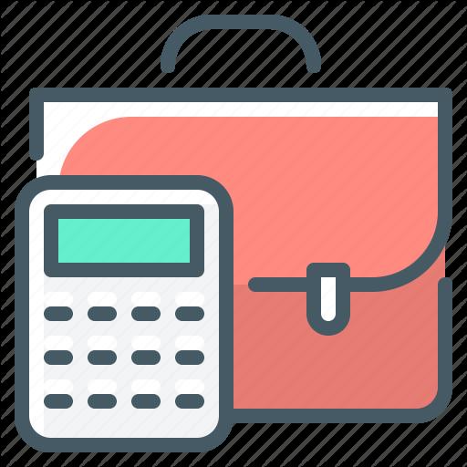 Accounting Briefcase Calculate Calculator Portfolio Icon Download On Iconfinder Business Icon Icon All Icon