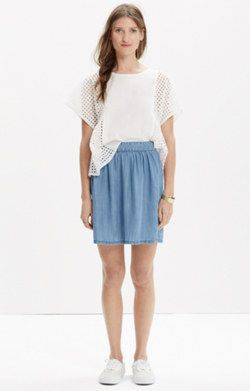 Faded Indigo Skirt