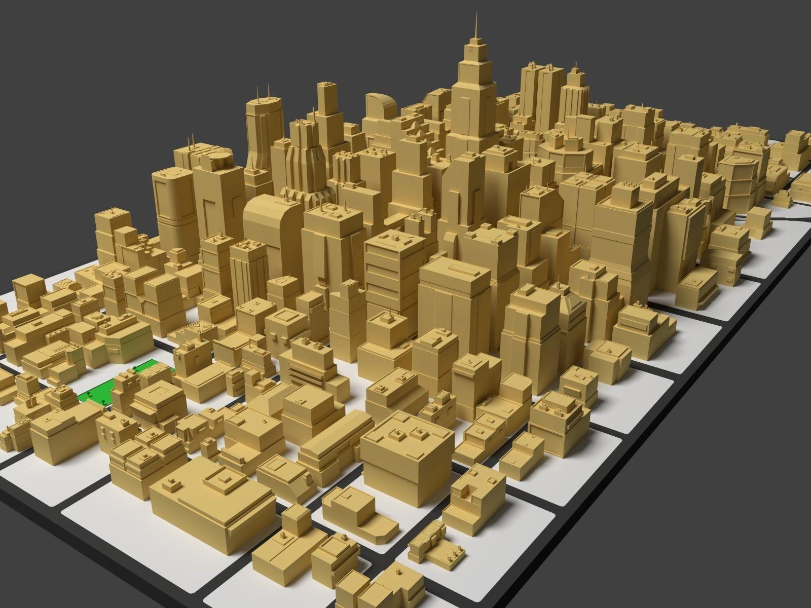 cityscape 3d model obj 3ds fbx blend dae mtl 3 | Things to Wear