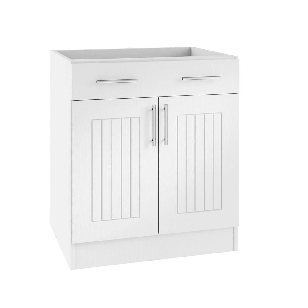 Weatherstrong Assembled 24x34 5x24 In Naples Island Outdoor Kitchen Base Cabinet With 2 Doors And 1 Drawer In Radiant White Kitchen Base Cabinets Base Cabinets Drawers