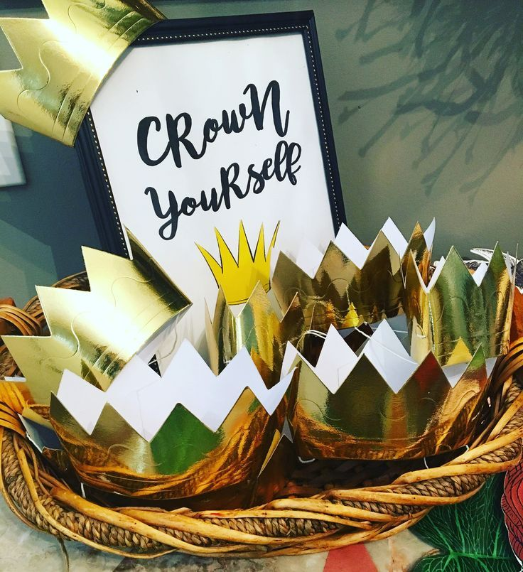 "First Birthday Boy Boy Birthday Crown Boy Birthday: Crown Yourself. ""A Wild One"" Where The Wild Things Are"