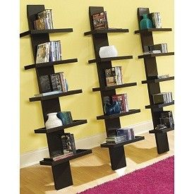 5-Tier Leaning CD/DVD Shelf in 4 Colors...    Love these!!