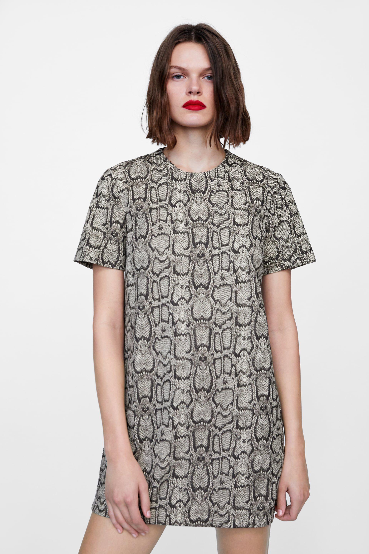 outlet for sale low price sale special section Image 2 de ROBE EN JACQUARD À IMPRIMÉ SERPENT de Zara | Mode ...