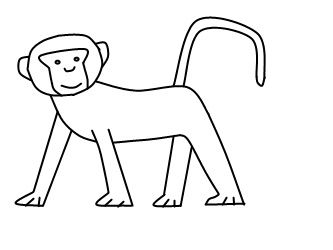 How To Draw A Monkey Step 4 Drawing A Blank Monkey
