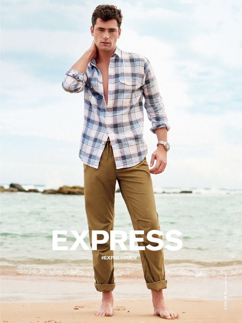 Sean O'Pry for Express 2016 Spring/Summer Campaign | Sean o'pry ...