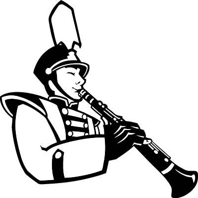 Pics For > Marching Band Clipart Black And White ...