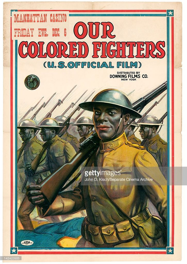 Movie poster advertises 'Our Colored Fighters,' a WW1