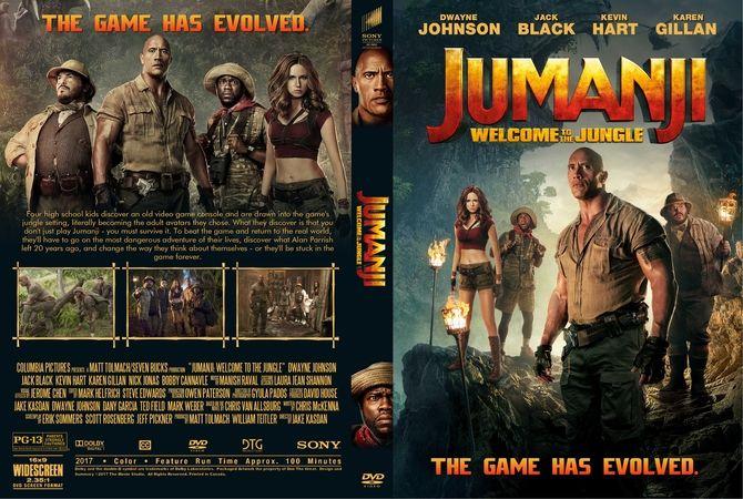 jumanji welcome to the jungle 2017 dvd custom cover dvd cover
