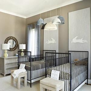 Nursery for Twins, Contemporary, nursery, Finnian\'s Moon Interiors ...