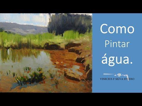 Como pintar uma paisagem com esp tula tinta a leo sobre - Como pintar sobre tela ...