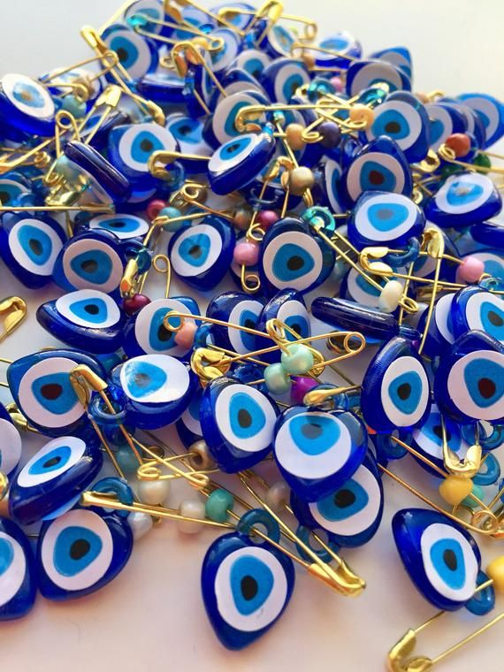 evil eye wedding favors 100 pcs Evil Eye Safety Pins baby shower favor