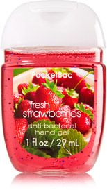 Fresh Strawberries Pocketbac Sanitizing Hand Gel Soap Sanitizer