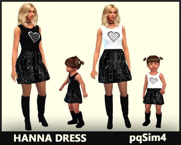 PQSims4: Hanna dress • Sims 4 Downloads