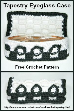 Hard Crochet Eyeglass Case Free Pattern And Tutorial At Moms