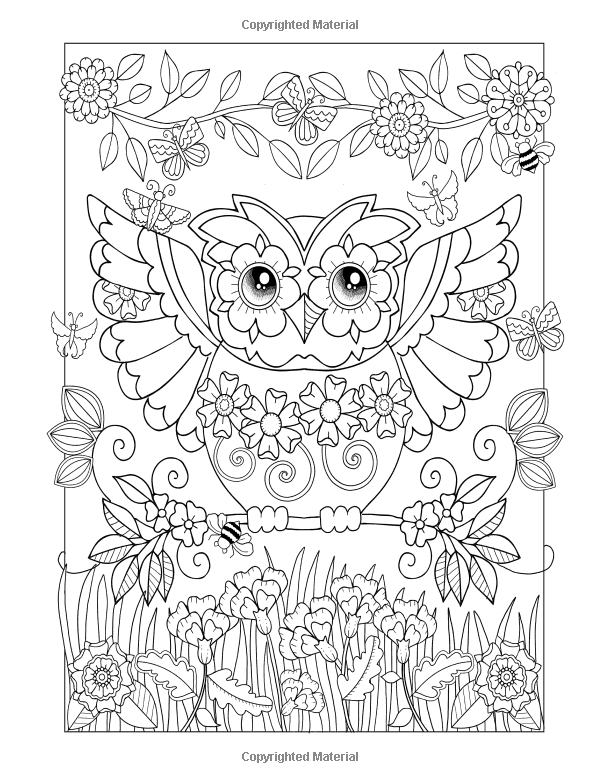 Amazon.com: Ornamental Owls: owl coloring book for adults ...