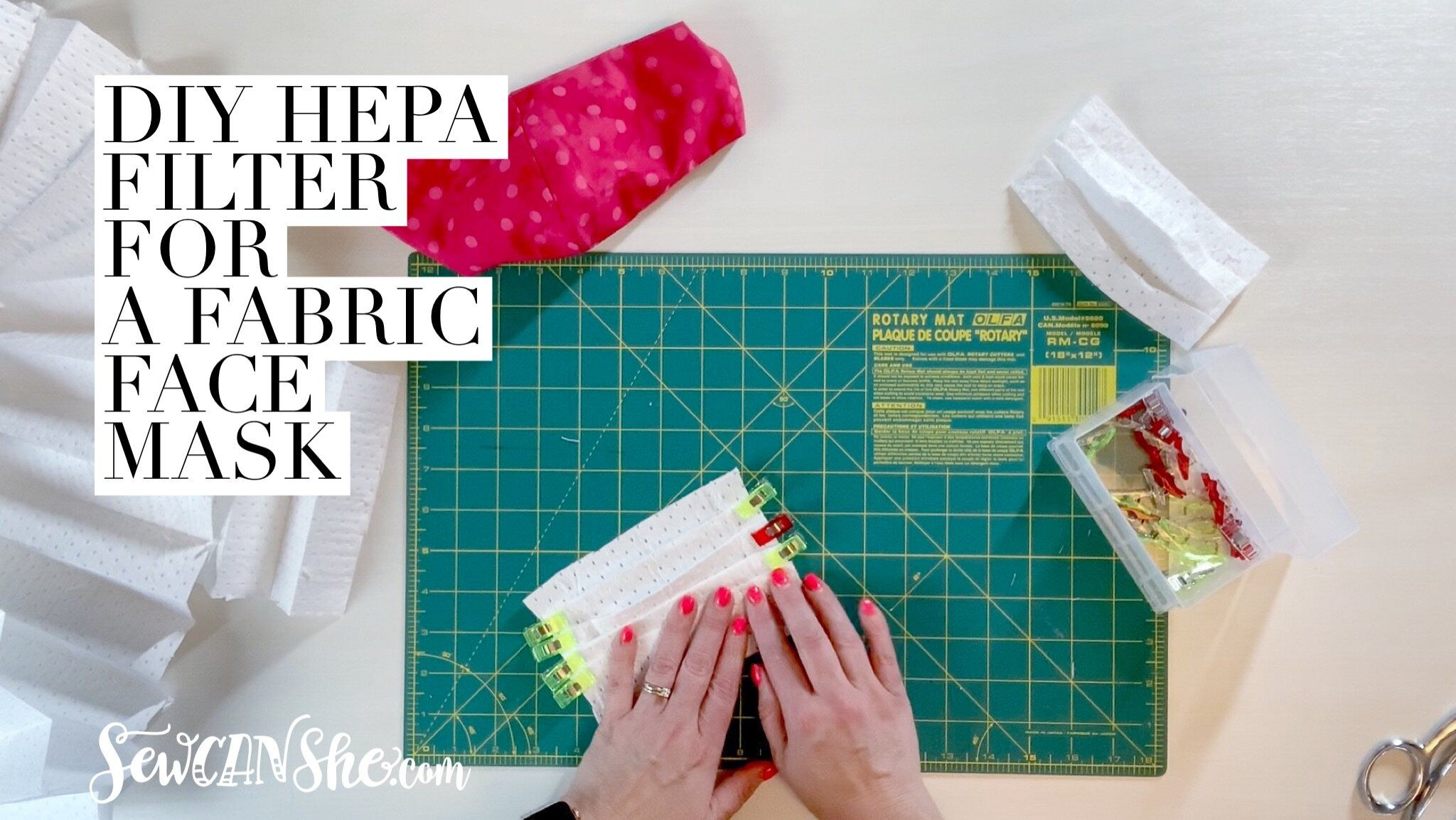 How to make a Face Mask Filter with HEPA Fabric video