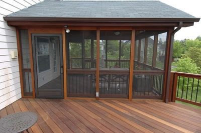 Deck With Screened Porch Building A Deck Screened In Deck