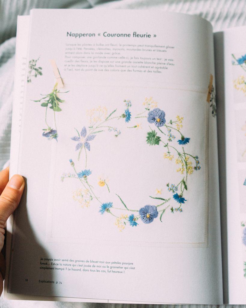 broderie cr ative le parfum des fleurs par kazuko aoki les ditions de saxe livre magazine de. Black Bedroom Furniture Sets. Home Design Ideas