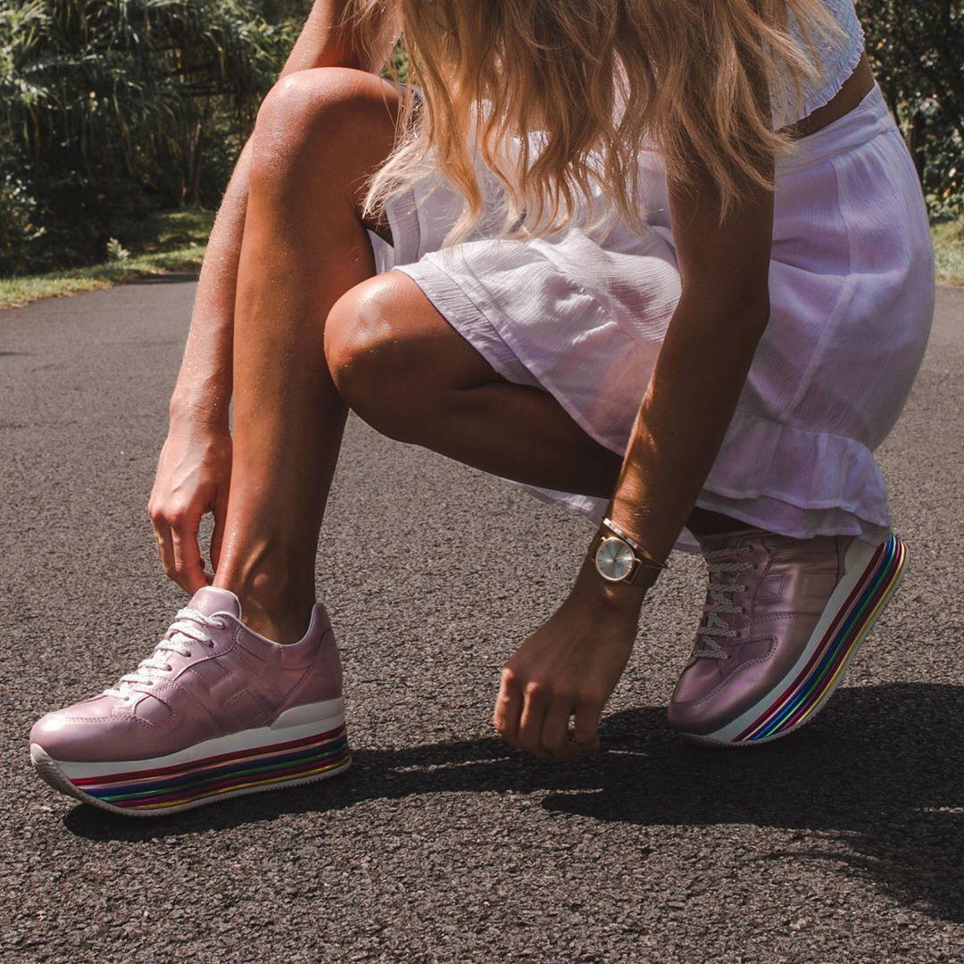 Hawaian dreams with @debiflue in #HOGAN Maxi #H222 #sneakers ...