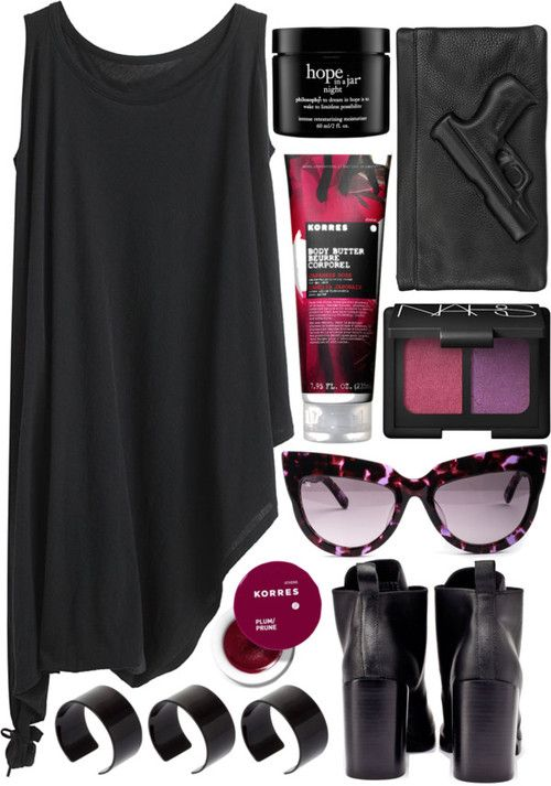 #Black outfit #Aggressive #comfort