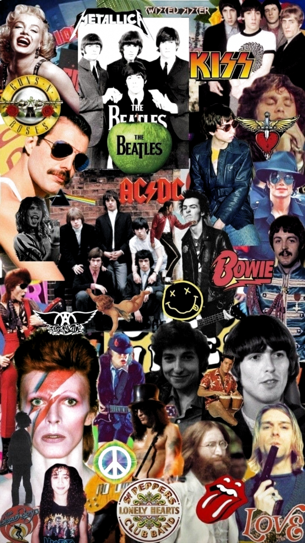 Wallpapers Background Whatsapp Fondowhatsapp In 2020 Beatles Wallpaper Music Collage Retro Wallpaper