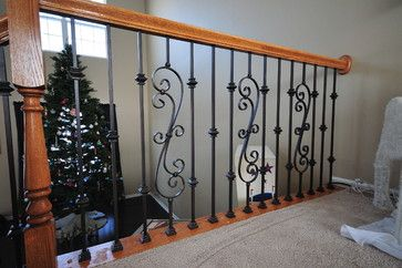 Replace Wood Balusters With Iron Baluste Design, Pictures, Remodel, Decor and Ideas - page 5