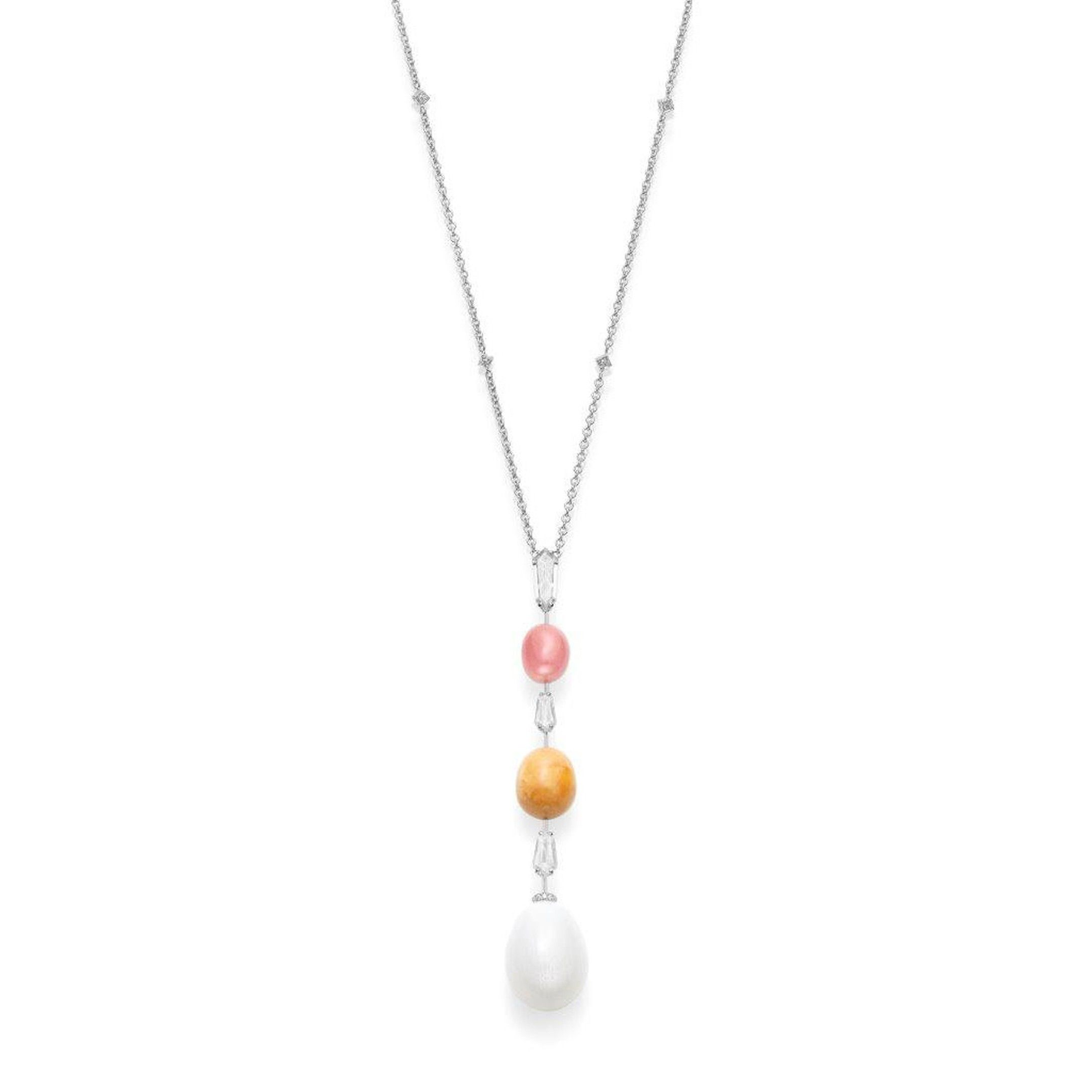 white hgk pearl k collective necklace pearls pendant christie s cultured mikimoto vestiaire