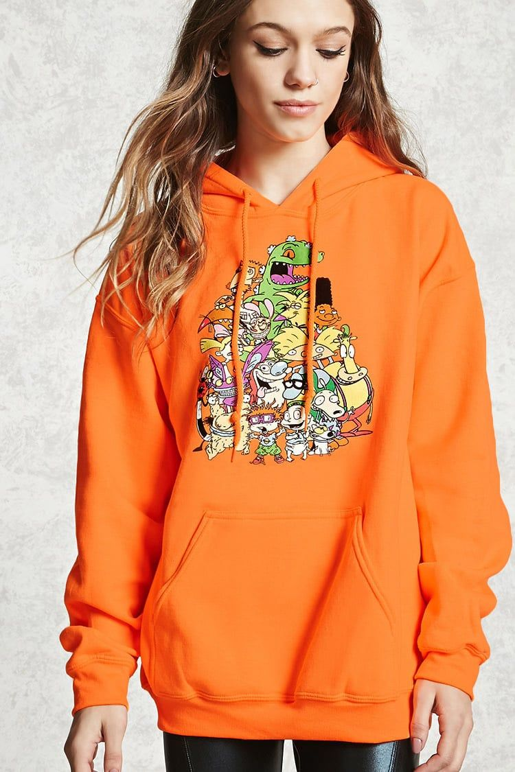 d0dc4abc9 Nickelodeon Graphic Hoodie Long Hoodie, Sweater Hoodie, Forever 21 Outfits,  Funny Outfits,