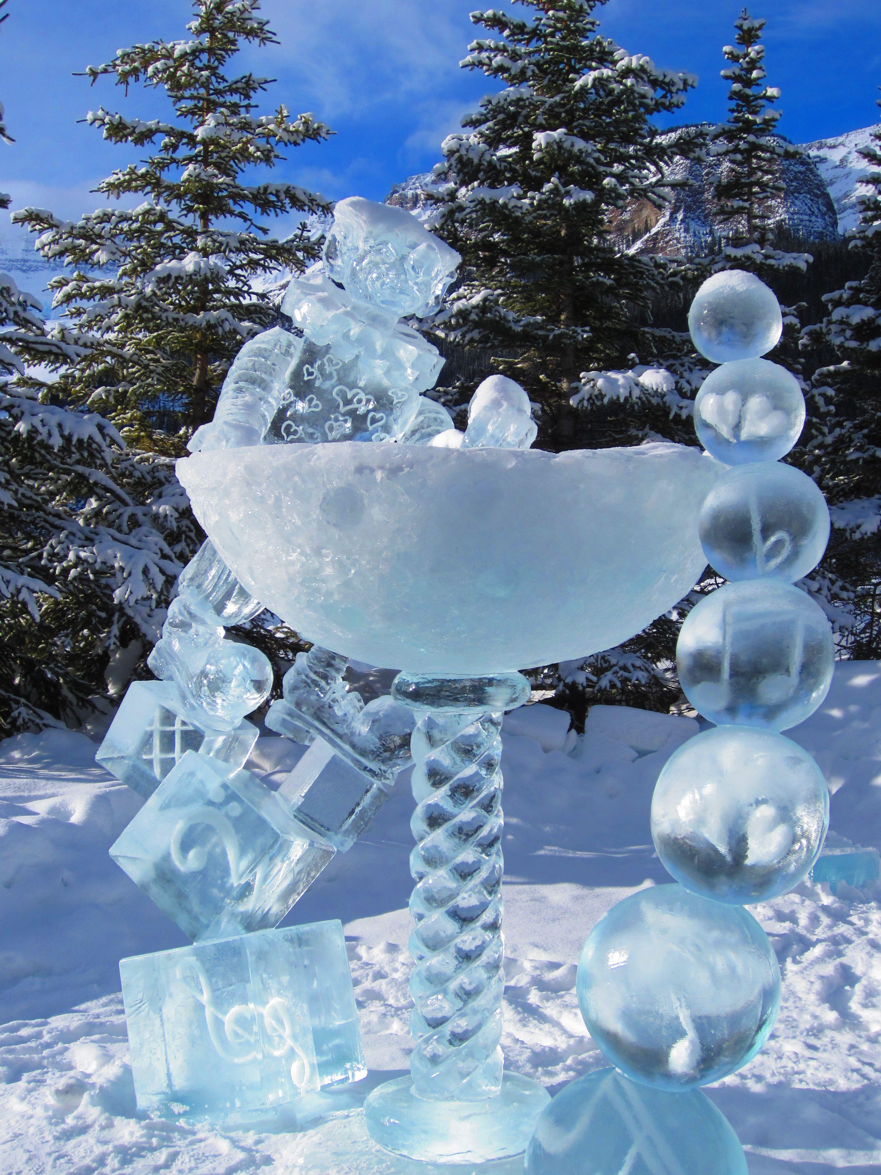 Ice Sculptures Magic Festival In Banff