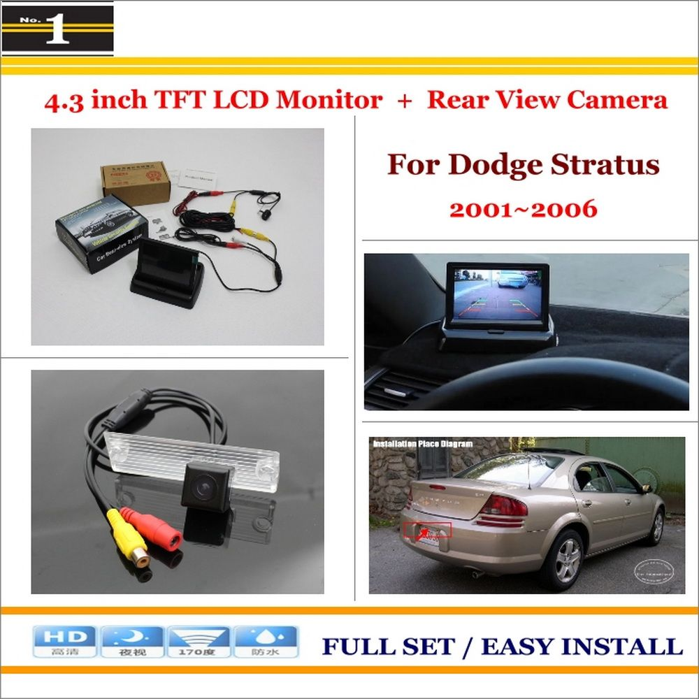 Car Parking Camera 43 Lcd Monitor Ntsc Pal 2 In 1 Nissan 350z Wiring Diagram Rearview System For Dodge Stratus 20012006