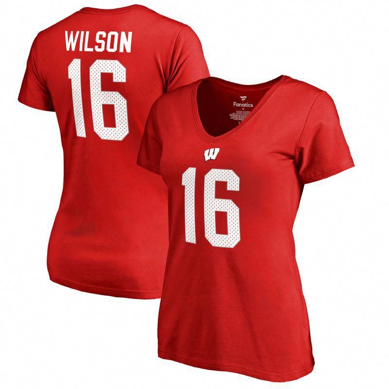 Russell Wilson Wisconsin Badgers Fanatics Branded Women s College Legends T- Shirt - Red  ncstatebasketball 8834c29e14