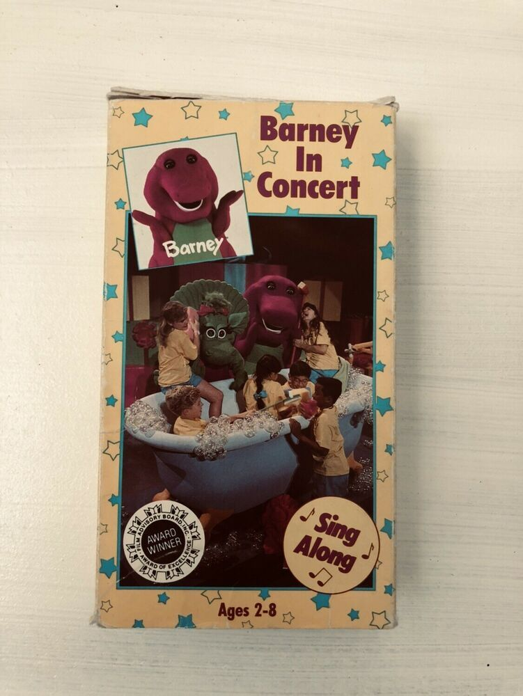 New Sealed Barney In Concert Vhs Baby Bop Majestic Theater Backyard Gang 21songs Ebay Vhs Majestic Theatre Barney