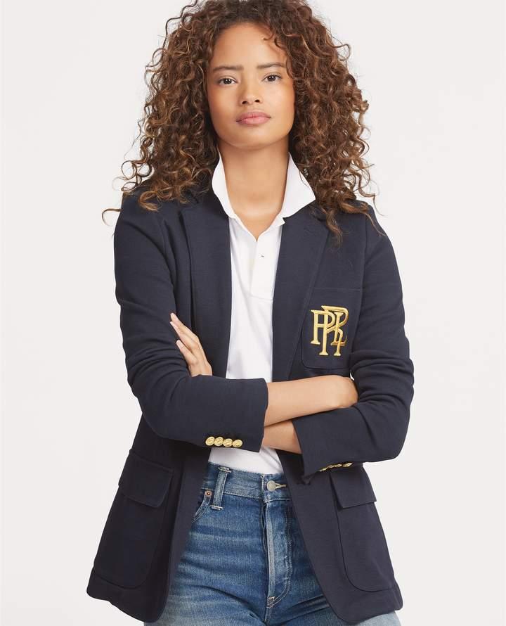 Ralph Lauren Knit Cotton Blazer Cotton Blazer Blazer Jackets For Women Ralph Lauren Preppy