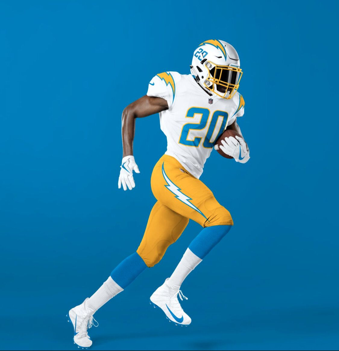 Los Angeles Chargers New Uniforms Uniswag In 2020 Los Angeles Chargers Color Rush Uniforms Los Angeles
